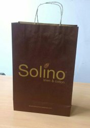 Imported Handled Printed Paper Bag, For Shopping, Bag Size: 12x16x5
