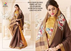 Rachna Art Silk Patch C-Buri Silk Catalog Saree For Women 3
