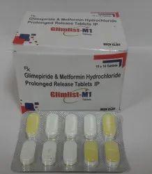 格列美脲1 mg HCI二甲双胍500 mg SR片
