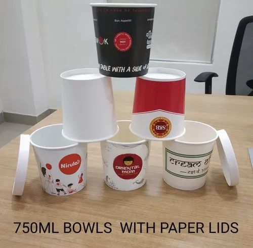 750 ML Bowl With Paper Lid