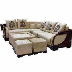 7 Seater Wooden L Shape Sofa Set