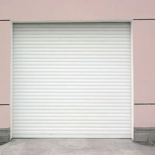 Full Height White Automatic CI Rolling Shutter