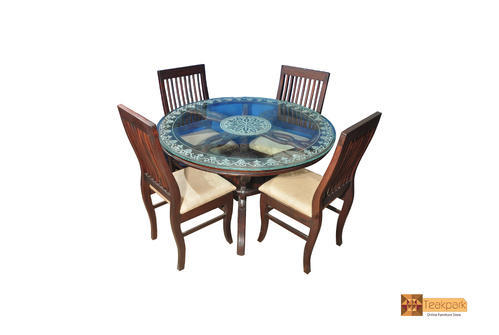 Amazon Round Rosewood Dining Set Glass Top Table With 4 Chairs At