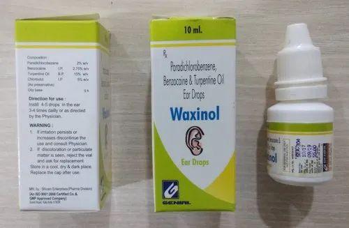 Waxinol Ear Drops, Common Disease Medicines | Genial Medicaments in