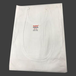 lux White Cotton Vests