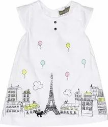 Cotton White Kids Girl Frock