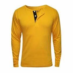 Medium Henley Mens Plain T Shirt