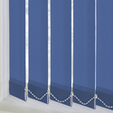 Pvc Blue Vertical Window Blinds