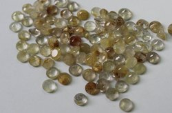Natural Golden Rutilite Faceted Round Loose Gemstone