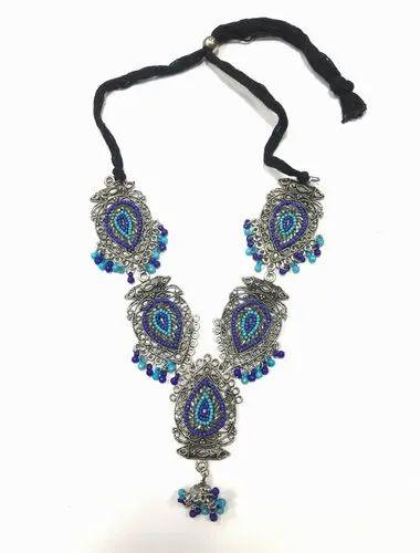 Oxidized Beaded Necklace