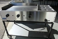 Rectangular Stainless Steel SS Catering Cart, Capacity: 80 Kg