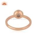 Designer Rose Gold Plated Silver Smoky Quartz Gemstone Ring Jewelry