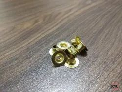 No 400 Brass Flat Eyelets Golden
