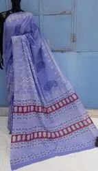 Exclusive Hand Block Printed Cotton Saree.
