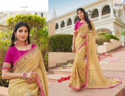 Designer Goldenish Stylish Saree