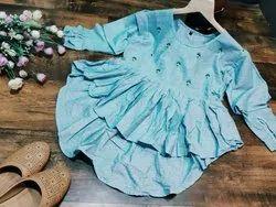 Cotton Ladies Full Sleeve Western Wear
