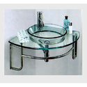Corner Glass Wash Basin