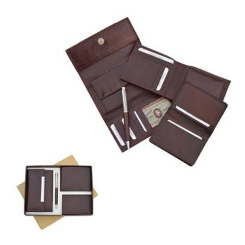 Brown Him and Her Wallet Gift Set