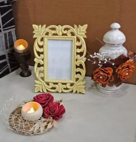 Multicolor Polished Decorative wooden frame, Size: 9.5x7.7