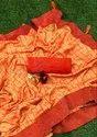 Silk Saree with Stone Diamond