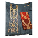 Ladies Unstitched Embroidery Suit