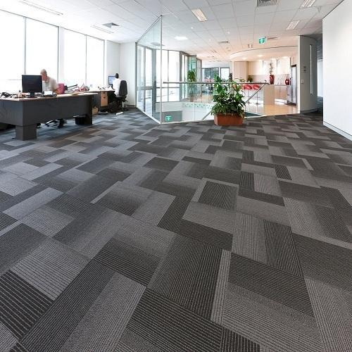 Home Office Vinyl Flooring Tiles In Dubai: Black Porcelain Modern Office Carpet Tiles, Thickness: 8