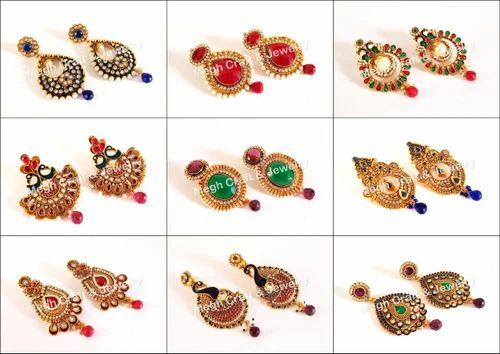 731c398c8d Exclusive Indian Designer Stone Beaded Women\'s One Gram Gold Earring