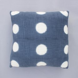 Tie Dye Indigo Cotton Cushion Cover