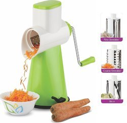Plastic Green Kitchen Tools Rotary Grater
