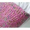 Indian Handmade  Ikat Print Kantha Quilt