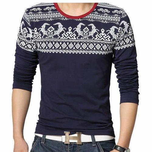 Printed Casual Wear Mens Designer T-shirt 37d44920abf