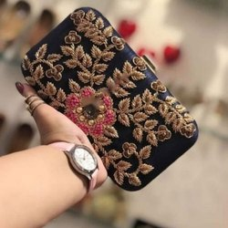 Party Black Clutch