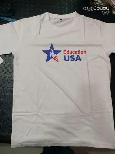 Cotton Half sleeve Men Printed T-Shirt, Size: Large