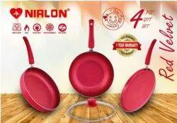 Nirlon Red Velvet 4 Piece Cookware Gift Set