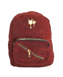 Red Glittering Girls Backpack