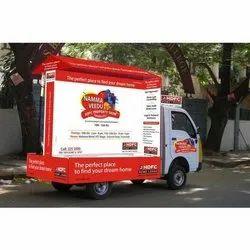 Offline Outdoor Mobile Vans Advertisement Services, For Advertising