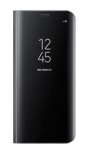 finest selection 2f100 9422b Black Galaxy S8 Clear View Standing Cover   ID: 18025275730