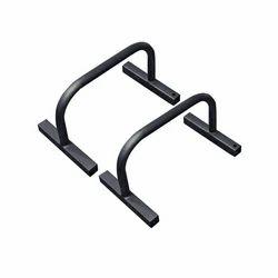 Black Mild Steel Gym Pushup Bar