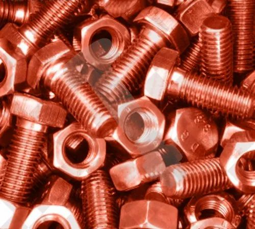 Hexagon Copper Nut And Bolt, Size: 1/2-4 Inch