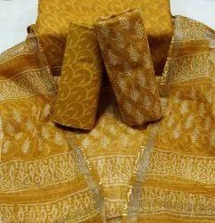 Bagru Hand Block Print Kota Doria Suit Set