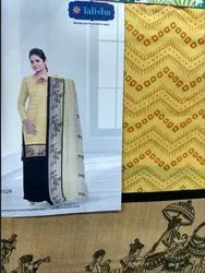 5bccb90161 Yellow Cotton Designer Unstitched Churidar Material