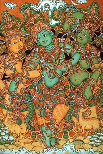Kerala Mural Art Paintings On Canvas at Rs 220/square feet | Mural Paintings  | ID: 15674171148