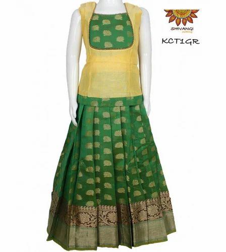 d02a6e9d8f Assorted Color Shivangi KCT1GR Kids Lehenga Pattu Pavadai, Rs 1495 ...