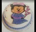 Cartoon Printed Cake