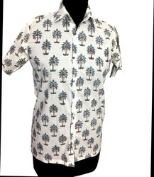 Traditional Indian Block Printed Cotton Shirt