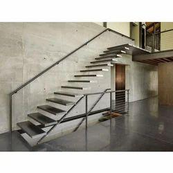 Straight Run Steel Staircase Railing