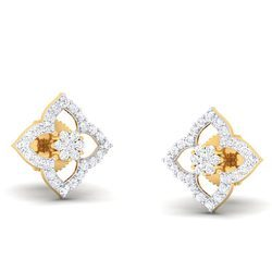 Round Diamond Earring