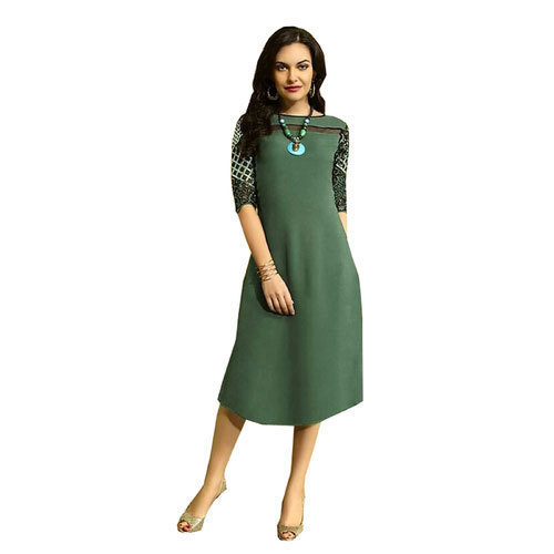 2d744a63234 Small And Medium Party Wear Frock Style Kurti