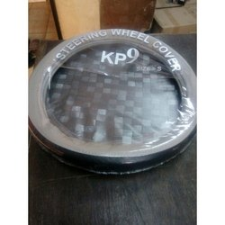 Round Grey and Black Steering Wheel Covers, Packaging Type: Packet