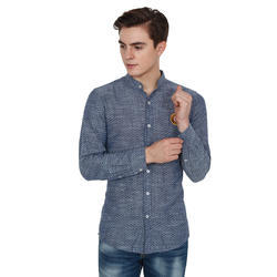 Yuvi Grey Printed Full Sleeve Cotton Shirt